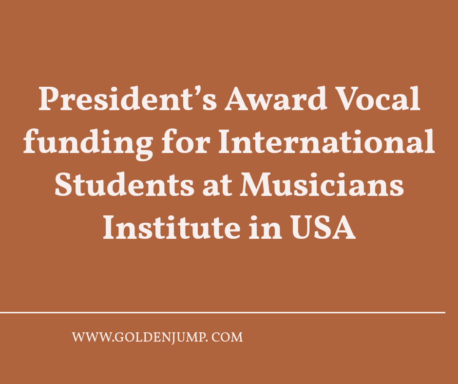 Photo of President's Award Vocal funding for International Students at Musicians Institute in USA