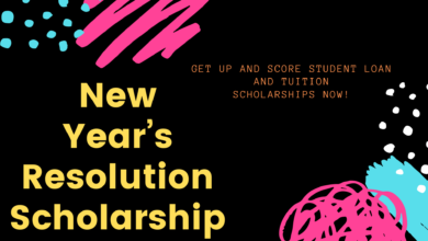 Photo of New Year's Resolution Scholarship