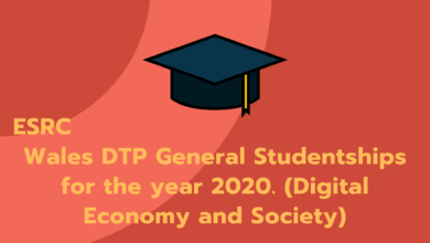 Photo of ESRC Wales DTP General Studentships for the year 2020. (Digital Economy and Society)