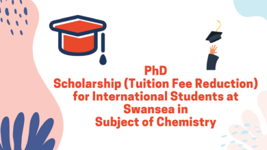Photo of Ph.D. Scholarship (Tuition Fee Reduction) for International Students at Swansea in Subject of Chemistry