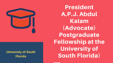Photo of President A.P.J. Abdul Kalam (Advocate) Postgraduate Fellowship at the University of South Florida)