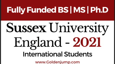 Photo of Fully Funded England Scholarships BS | MS | Ph.D 2021 University of Sussex