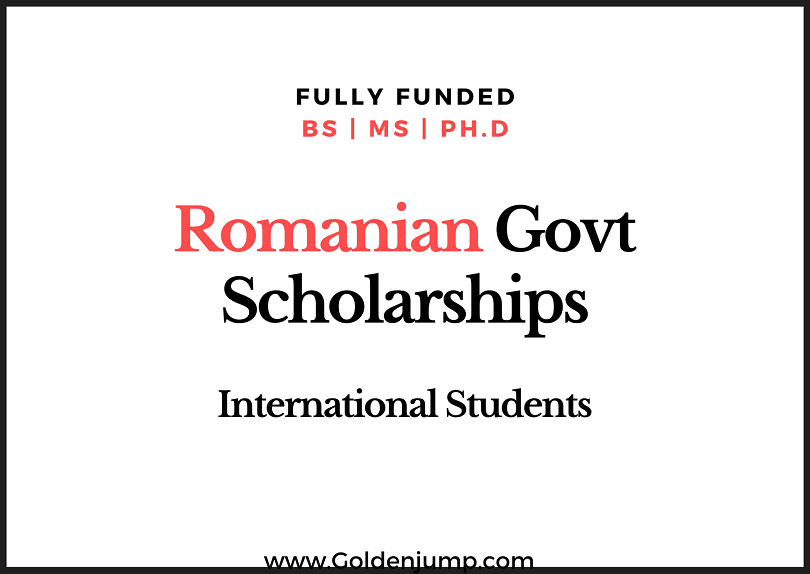 Fully Funded Romanian Govt Scholarships 20202021 for International Students