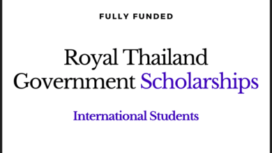 Photo of Fully Funded Royal Thailand Government Scholarships 2020