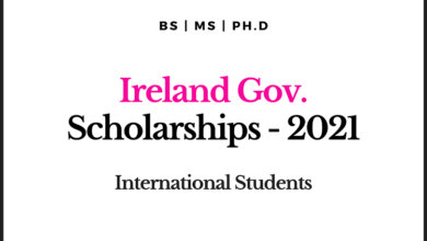 Photo of Funded Ireland Government Scholarship for International Students 2021