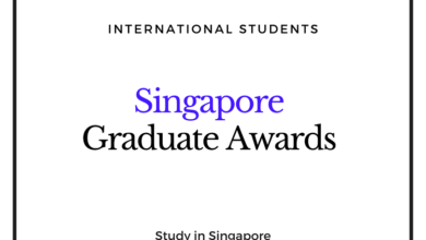 Photo of Singapore Graduate Awards 2020 for International Students