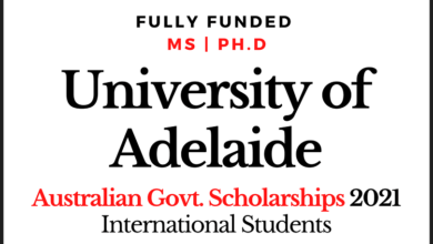 Photo of Australian Scholarships 2020 University of Adelaide