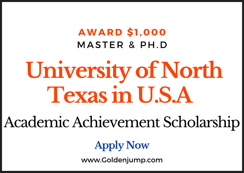 Academic Achievement Scholarship offered by University of North Texas in U.S.A