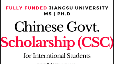 Photo of Fully Funded Chinese Govt. Scholarship (CSC) 2020 Jiangsu University Masters and Ph.D