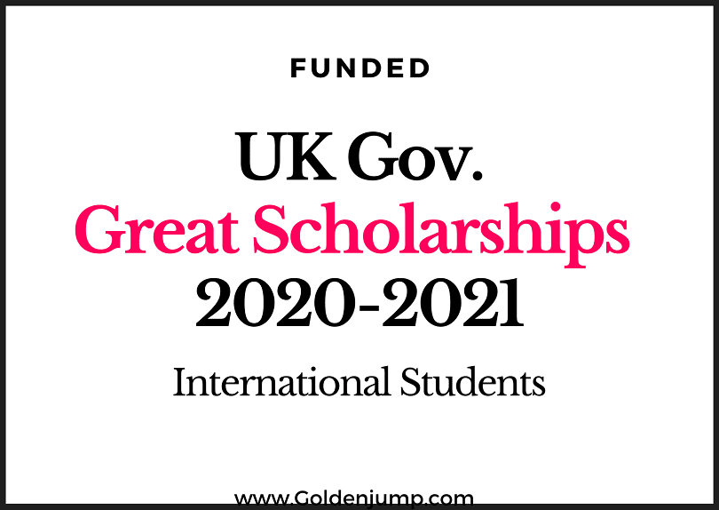 UK Government's GREAT Scholarship 2020-2021