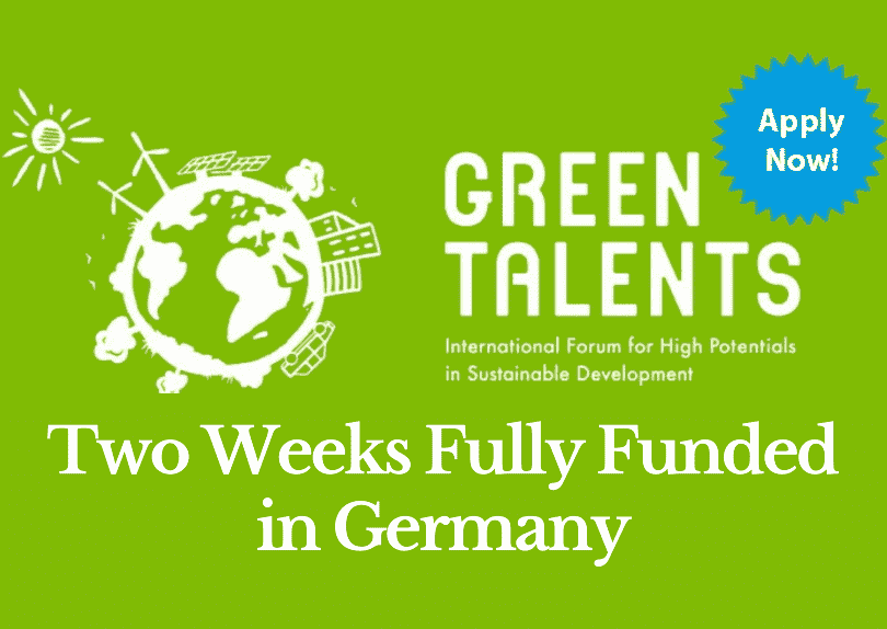 Fully Funded Green Talents Award In Germany 2020