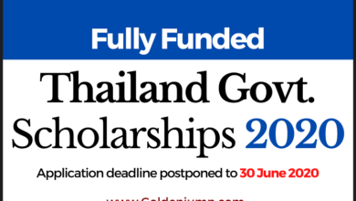 Photo of Fully Funded Thailand International Scholarships Program 2020