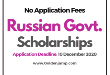 Photo of 1500 – Russian Government Scholarships 2021/2022 for International Students – Masters and Ph.D