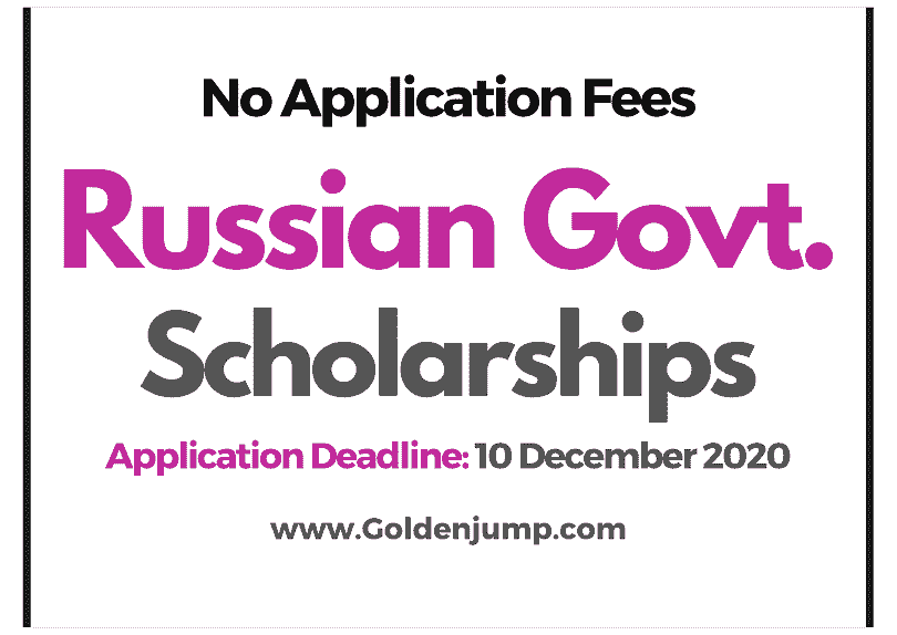 1500 - Russian Government Scholarships 2021-2022 for International Students - Masters and Ph.D