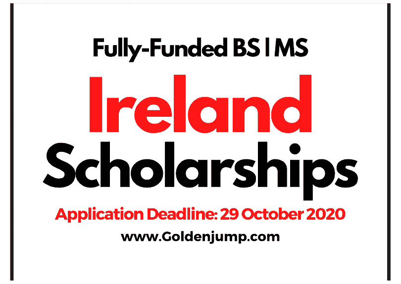 Government of Ireland Fully Funded Postgraduate Scholarships 2021 for International Students