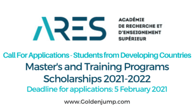Photo of ARES (200) Scholarships for Masters and Training Programs 2021-2022 in Belgium