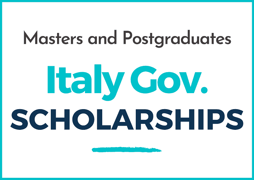 Italy Government Scholarships   Academic Year 2021-2022   Master and Postgraduate