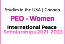 Photo of PEO International Peace Scholarships for Women 2021-2022 | United States and Canada