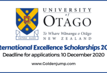 Photo of University of Otago International Excellence Scholarships 2021, New Zealand